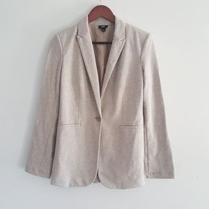 Mossimo tan knit one button blazer size small